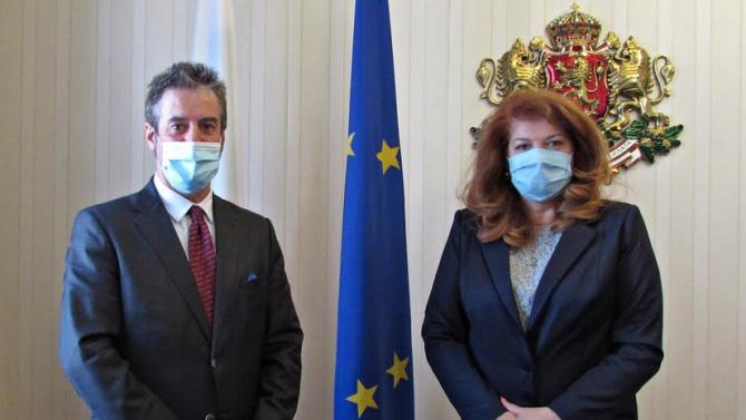 Вицепрезидентът пред посланика на Белгия: България трябва да обясни на Европа позицията си за Република Северна Македония