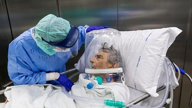 Италия съобщи днес за 684 смъртни случая на хора с