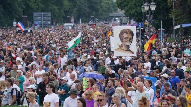 Германският Върховен съд отказа да разреши протест на противници на ограничителните мерки
