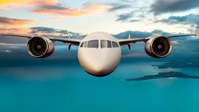 "Самолет на авиокомпания ""Аерофлот"", изпълнил полет от Москва до Ню"