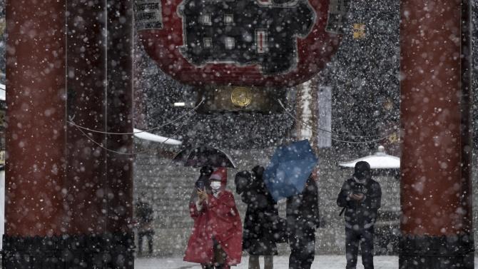 Студена вълна обхвана Япония