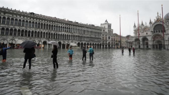Венеция задейства системата срещу наводнения