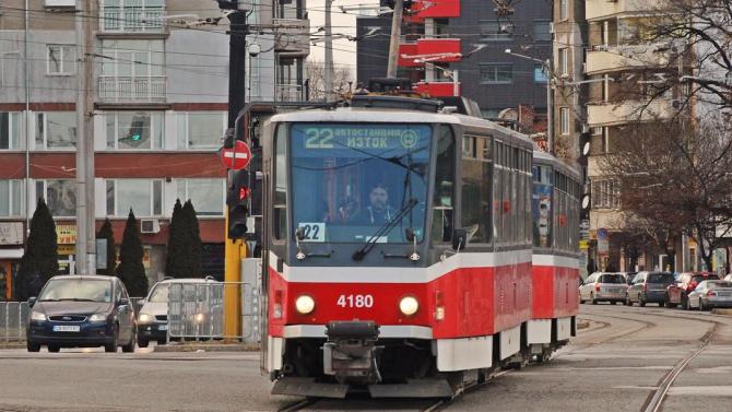 Закриват спирки по маршрута на трамвай 22
