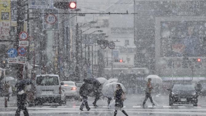 Над 500 полета са отменени в Япония заради снежна буря