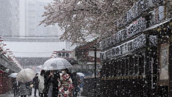 Силна буря обхвана части от Япония