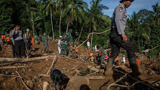 12 загинаха при свлачища в Индонезия