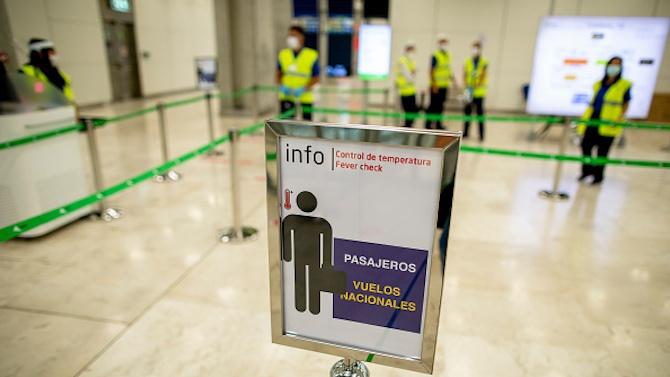 Летището в Мадрид постепенно възобновява работа