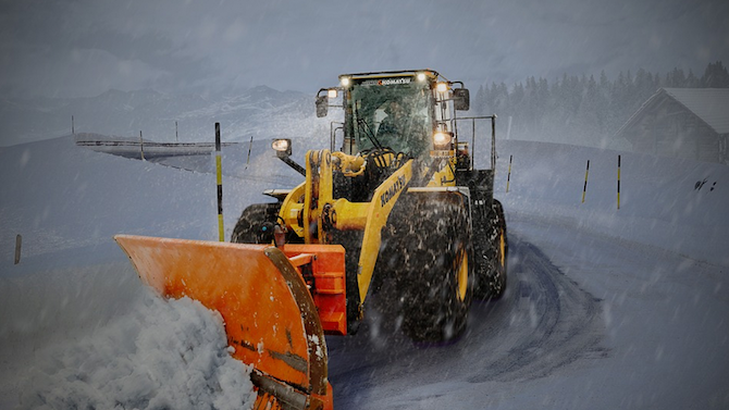 Поради снегопочистване временно се ограничава движението на тежкотоварни автомобили по пътя Видин-Монтана