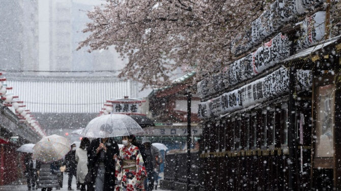 Най-малко осем загинали в резултат на снеговалежите в Япония