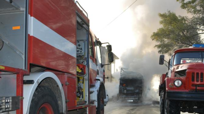 "Камион се запали на АМ ""Тракия"""