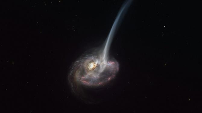 Астрономи за пръв път наблюдаваха умираща далечна галактика
