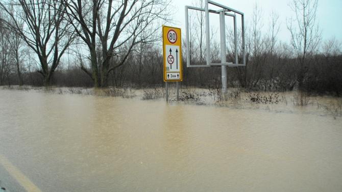 Падналите през последните три дни валежи в Силистренско на места са колкото месечната норма за януари
