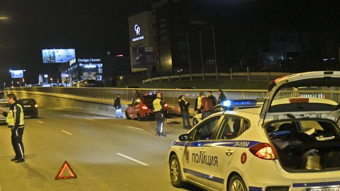 Верижна катастрофа на Софийския околовръстен път, има ранени