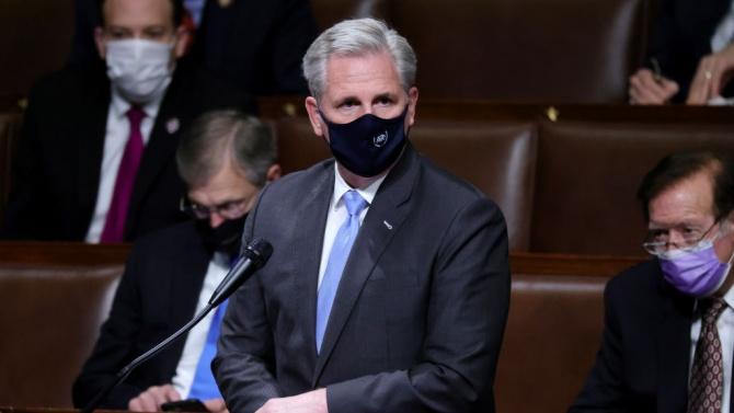 Лидерът на републиканците в Камарата на представителите: Тръмп е отговорен за атаката срещу Капитолия