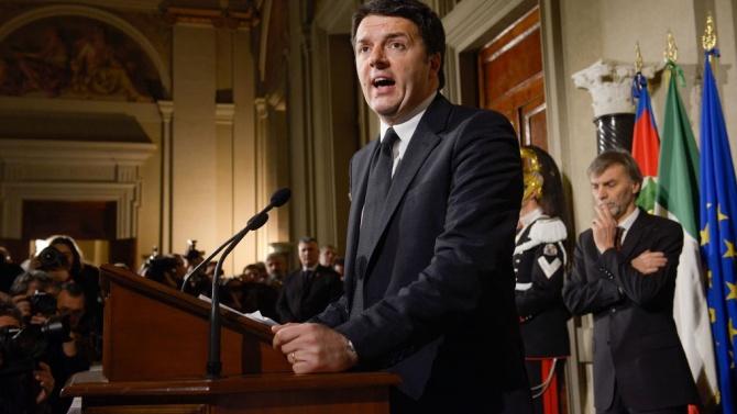 Ренци ще се въздържи, ако италианското правителство поиска вот на доверие