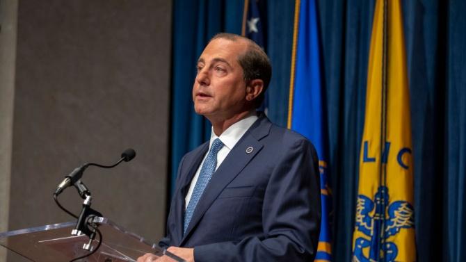 Здравният министър на САЩ Алекс Азар подава оставка