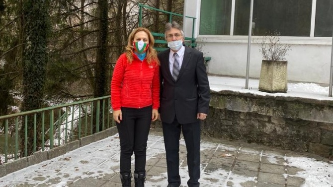 Николова обсъди развитието на местния туризъм с кмета на Нареченски бани Димитър Бакалски