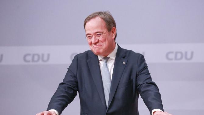 Армин Лашет бе избран за лидер на Християндемократическия съюз (ХДС)