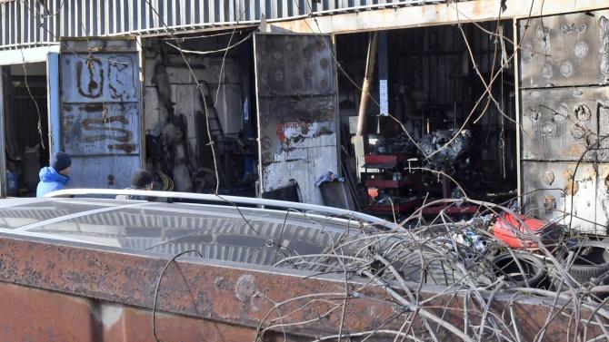 Гръмнал бойлер предизвика пожар в сервиз за автоклиматици в София