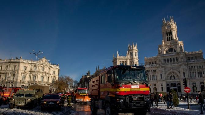 Испания обяви Мадрид и други пострадали от бурята области за бедствени зони