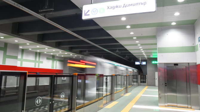 Авария спря новата линия на метрото