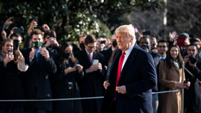 Краят на ерата Тръмп настъпи. В своето прощално президентско обръщение