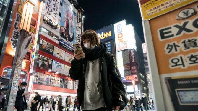 22-годишно дъно при посещенията на чужденци в Япония през 2020 г.