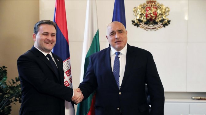 """Борисов се похвали с ускорената реализация на АМ """"Европа"""" пред външния министър на Сърбия"""