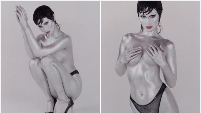 Най-красивата жена в света се снима топлес като извънземна