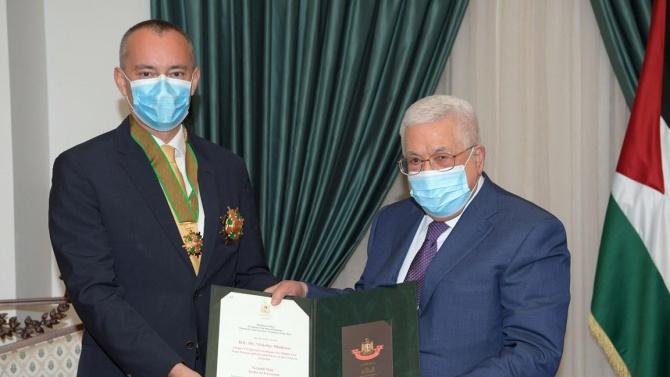 Наградиха Николай Младенов с най-високия орден на Палестина