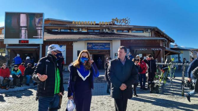 Марияна Николова в Банско: Наблюдава се засилен интерес към зимните курорти