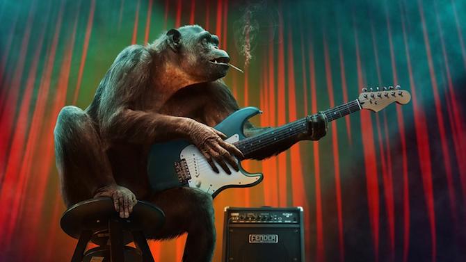 Маймуна с чип в мозъка играе видеоигри