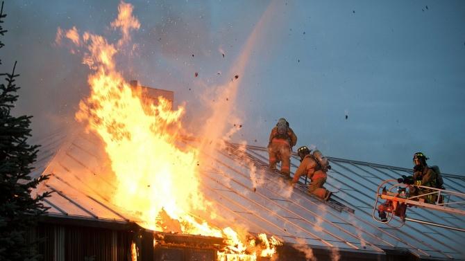 Обгорял труп след пожар в с. Искрец