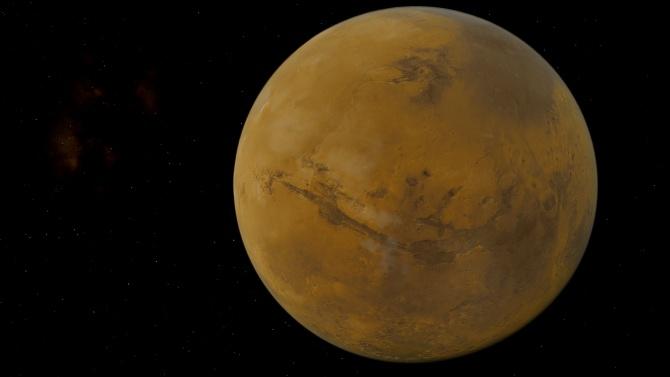 Водна пара беше открита в атмосферата на Марс