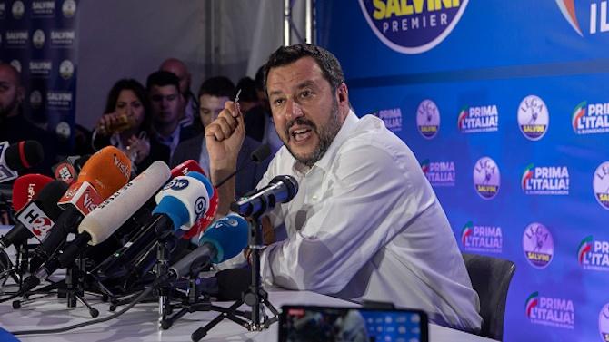 През февруари 2017 г. буйният популист Матео Салвини обвини тогавашния