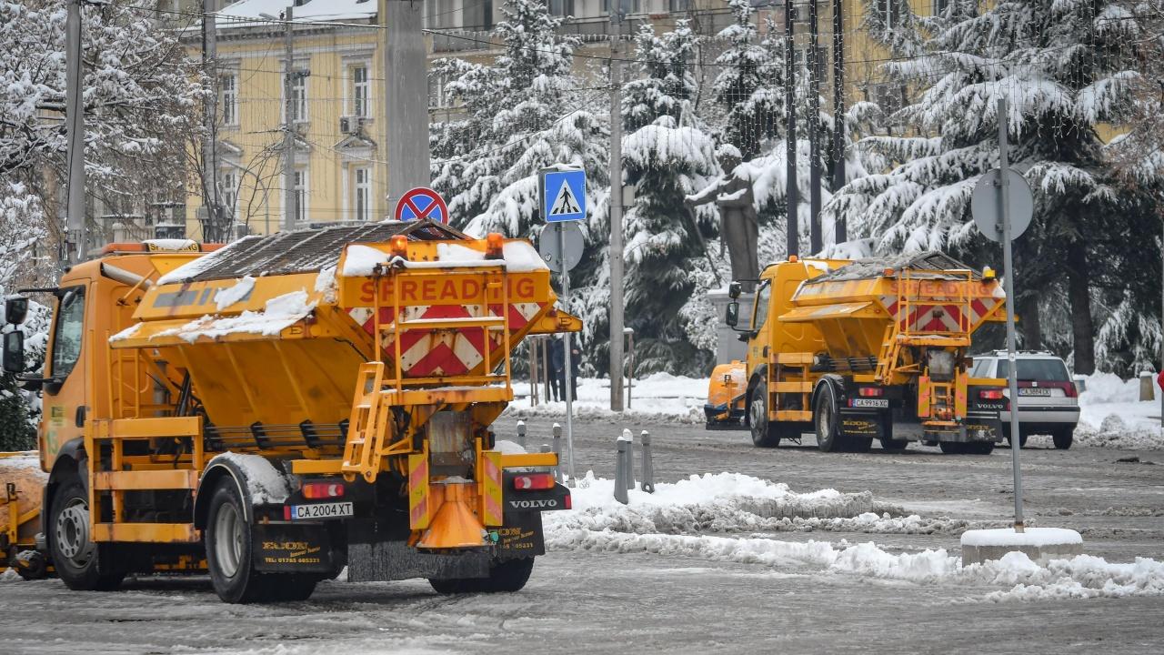 Вижте каква е ситуацията в снежна София