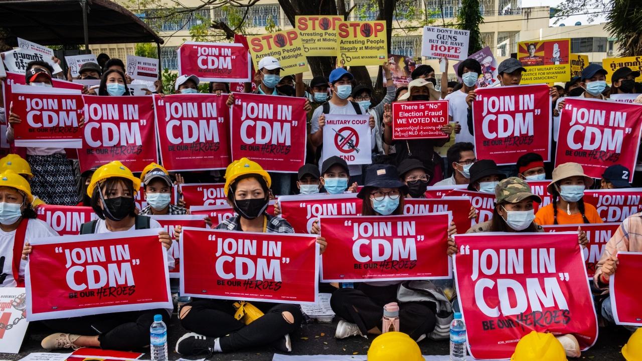 Продължават протестите срещу военния преврат в Мианма