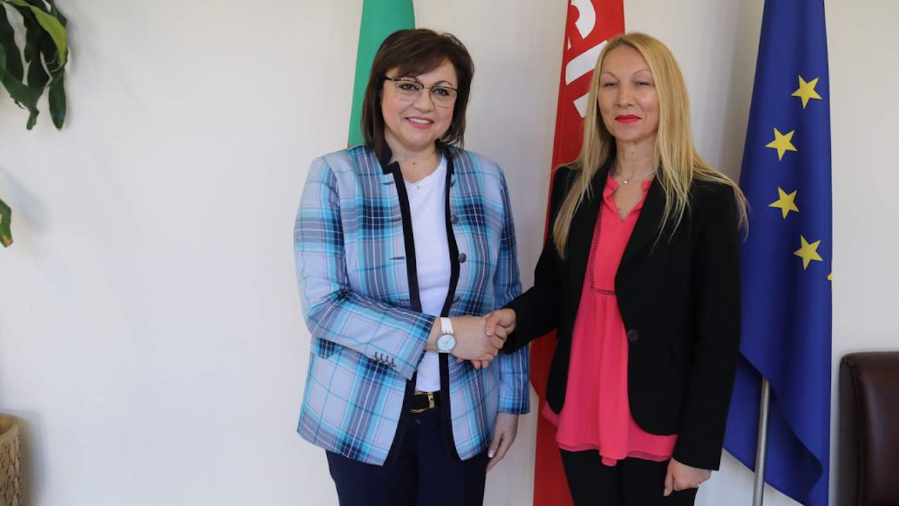 Корнелия Нинова се срещна с кандидат-кмета на БСП за Мъглиж