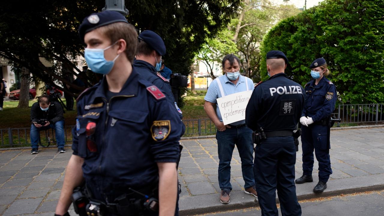 Демонстрации във Виена срещу ковид мерките на правителството