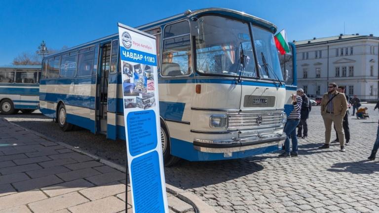 Ретроавтобуси дефилираха в София