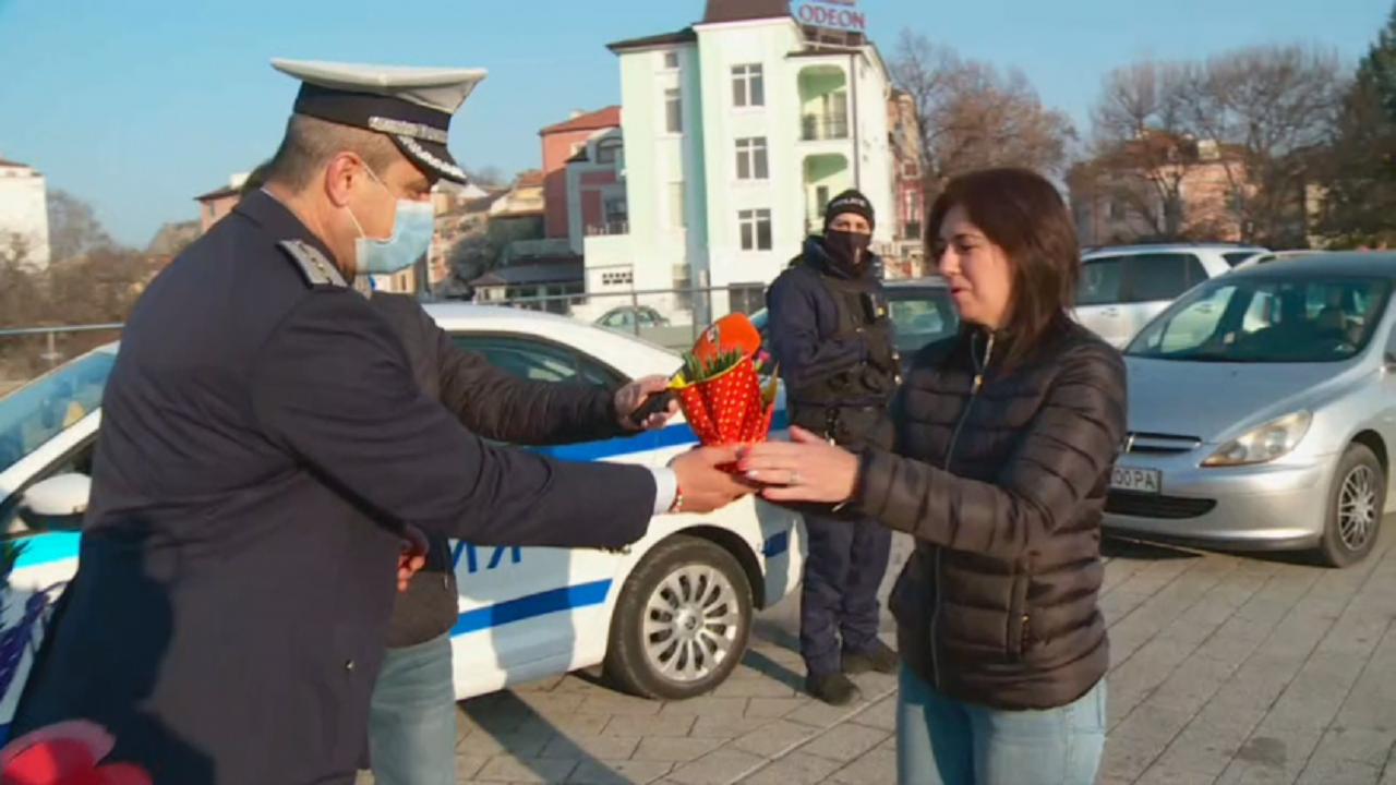 В Пловдив: Цвете на пътя