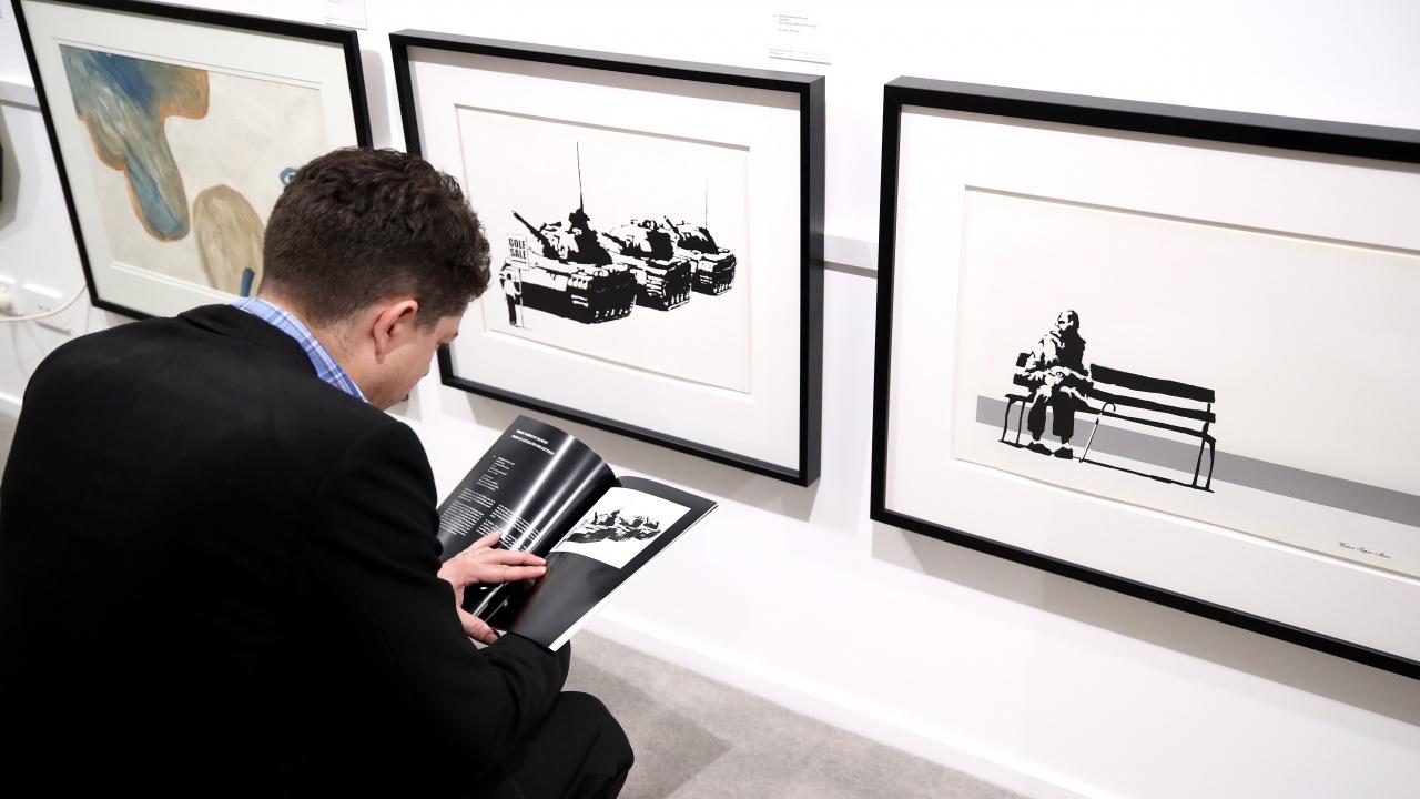 Картина на Банкси беше продадена за рекордна цена