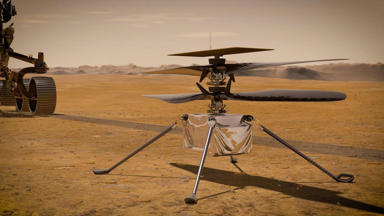 """Хеликоптерът """"Инджинюъти"""" вече е на повърхността на Марс"""