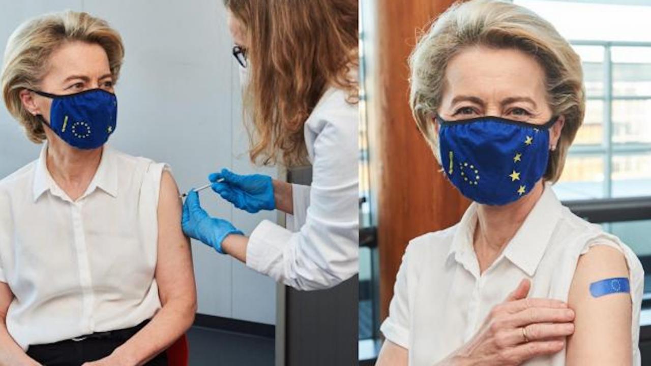 Фон дер Лайен също се ваксинира срещу COVID-19