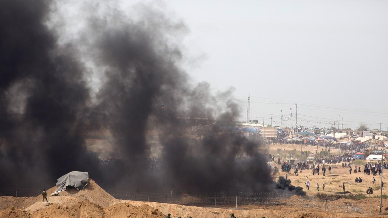 Израел нанесе удари по цели на Хамас в отговор на палестинска ракета
