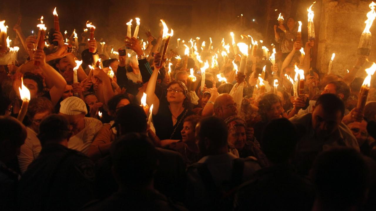 Благодатният огън ще пристигне от Ерусалим