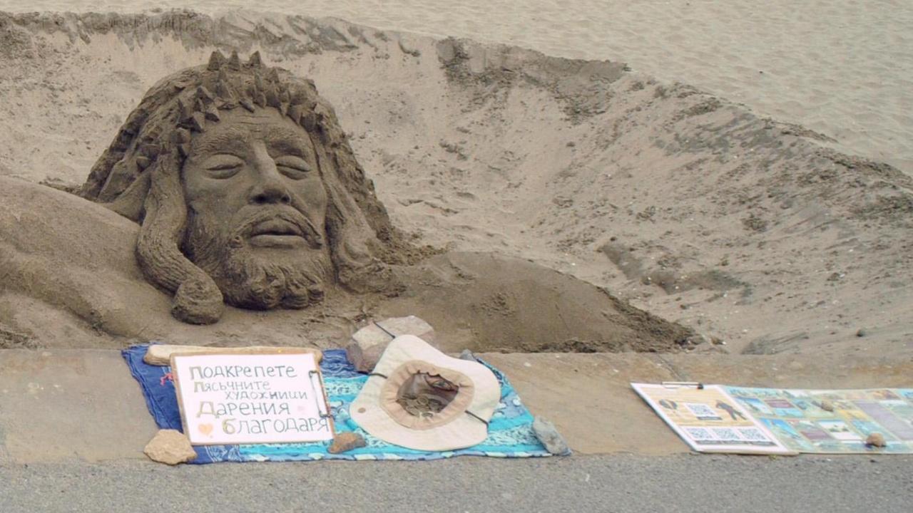 Исус Христос се яви на плажа в Бургас