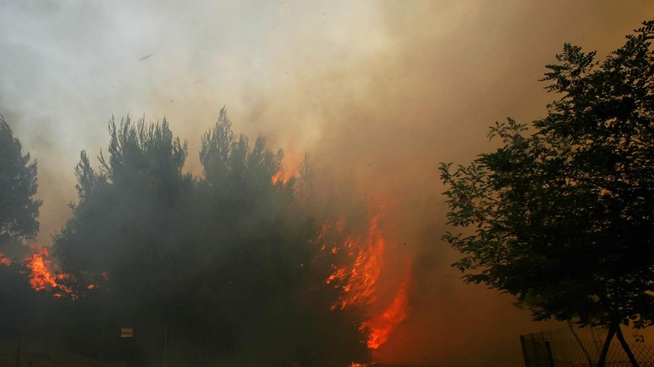 Запали се закрито сметище край Кюстендил