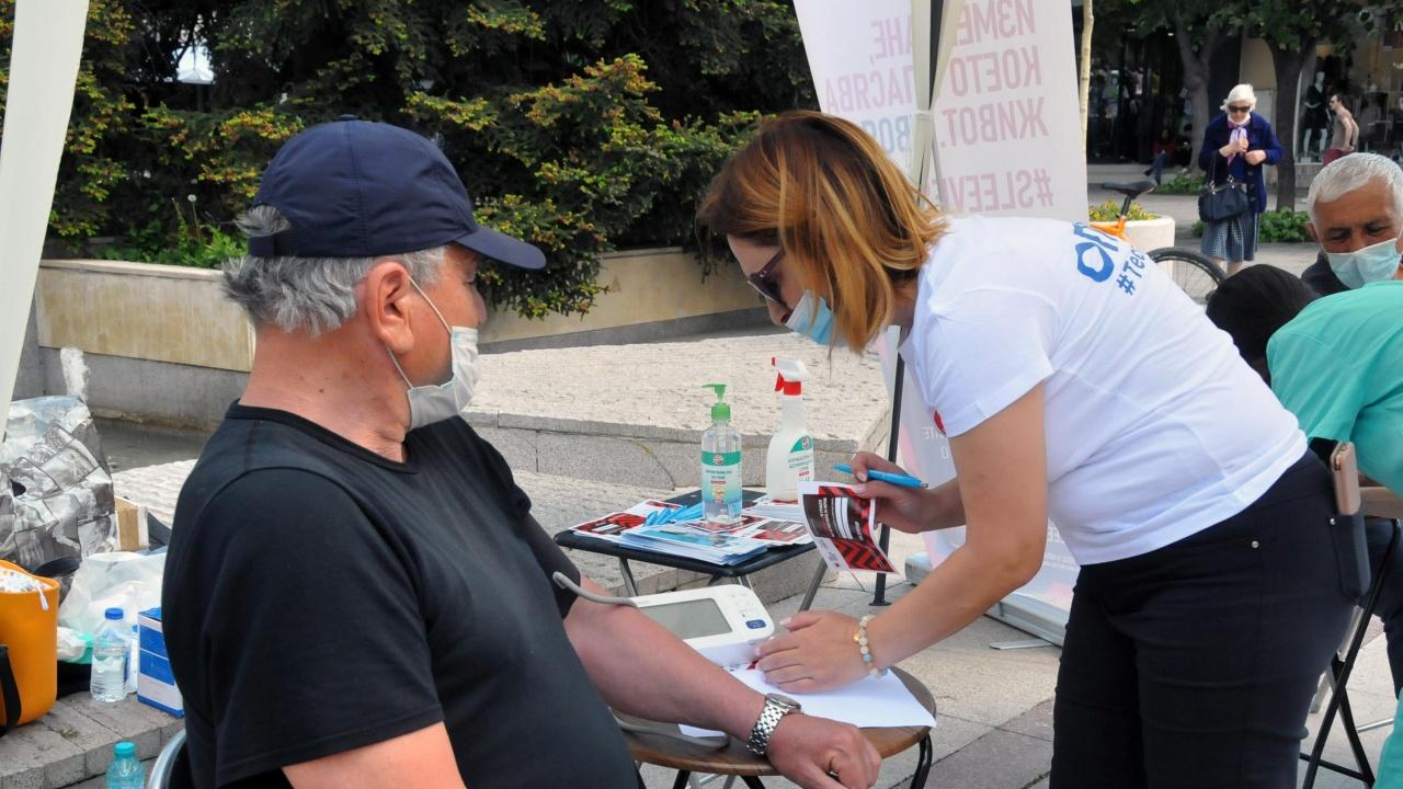 Откриха пункт за мерене на кръвно налягане в Бургас