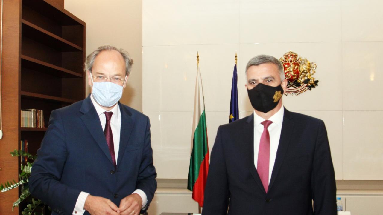 Стефан Янев проведе среща с посланика на Федерална република Германия Кристоф Айхорн